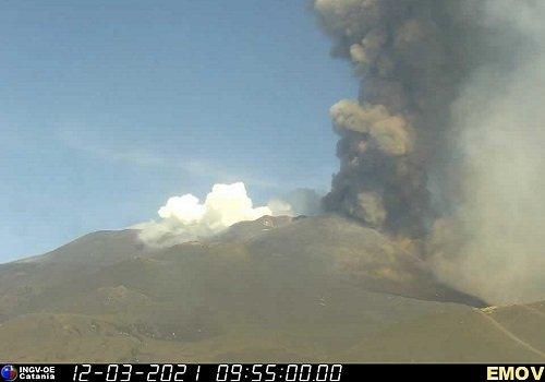 Etna, 12 marzo 2021. Dodicesimo parossismo del vulcano